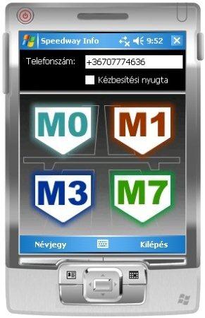 Autópálya információk SMS-ben Windows Mobile-on