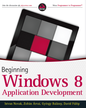 Beginning Windows 8 Application Development könyv (Wiley)